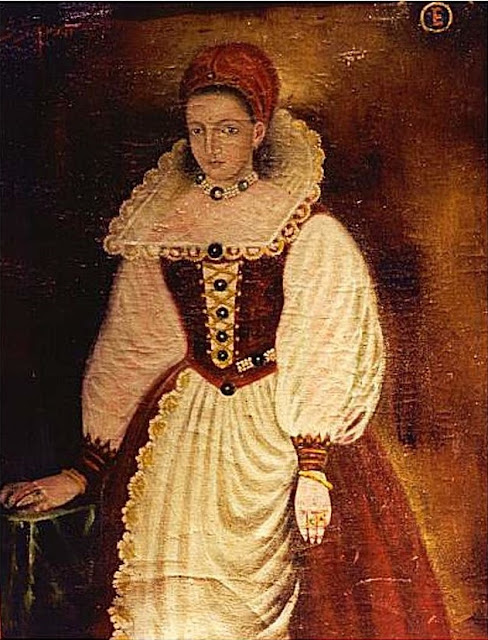 Retrato de Elizabeth Bathory, de 1585.