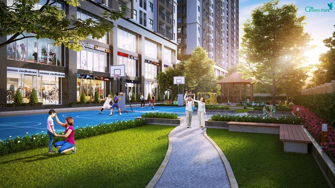 Không gian sống xanh dự án Green Park City