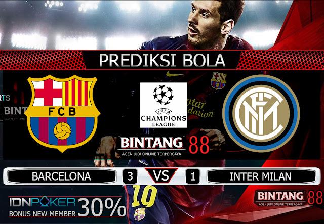 PREDIKSI BOLA BARCELONA VS INTER MILAN 3 OKTOBER 2019