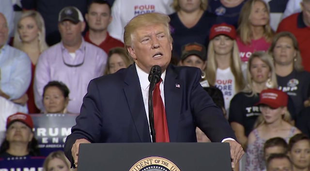 Trump blasts minority Democrats, rally crowd chants 'send her back'