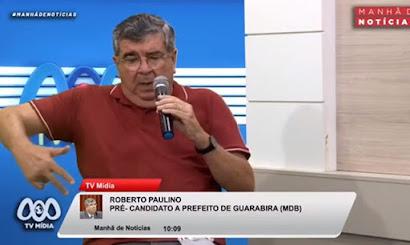 Vídeo: Roberto expõe tentativa de aliança de Teotônio com MDB que não vingou por rejeição de aliados emedebistas