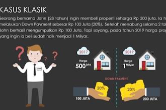 Nabung Properti' Rp 160 Ribu/Hari, Beli 2019 dengan Harga 2017