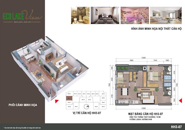 Thiết kế căn hộ 04 tòa HH03 Eco Lake View