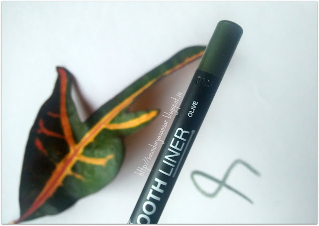 Maybelline VIVID & SMOOTH Liner- Olive: Review, Swatches