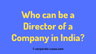 who can be a director of a company in india