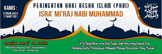 Template Spanduk Isra' Mi'raj