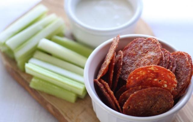 Pepperoni Chips #keto #snacks