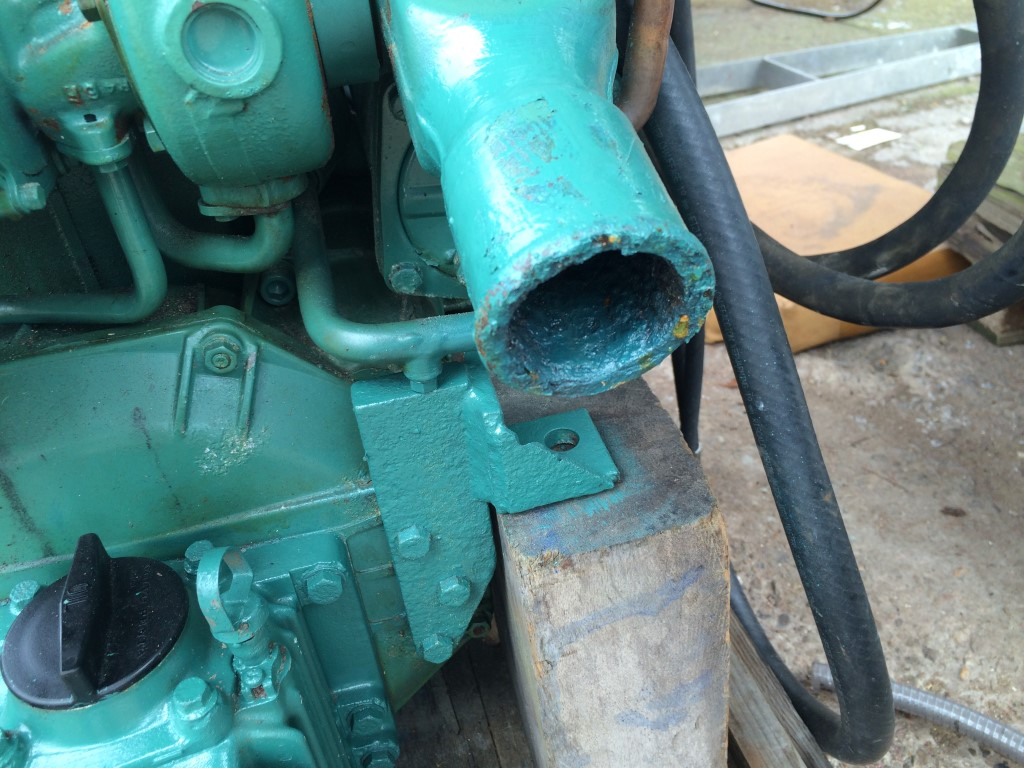 DIY Boat Restoration Blog : Exhaust outlet, stern gland packing and