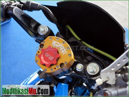 Stang Pakai Steering Damper - Video Cara Modifikasi All New Suzuki Satria F150 FI Sporty Untuk Balapan Terbaru Sederhana Tapi Keren