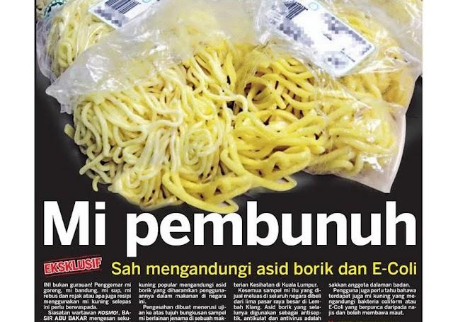 Mee Pembunuh - Bahayakah Asid Borik Dalam Makanan?