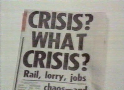 James Callaghan's famous quote that he didn't actually say 'Crisis. What crisis?'