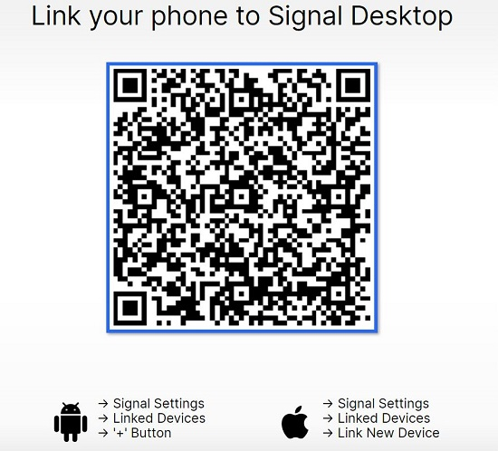 Scan QR Code - How To Run Signal Private Messenger App On PC? [Latest 2021]