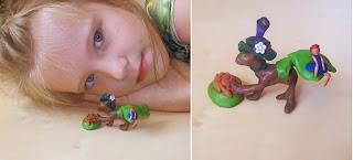одно из Настиных любимых занятий - лепить из пластилина. Настино творение: кошечка Маруся и её подружка феечка Полина.