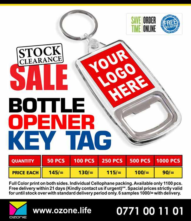 Bottle Opener Key Tag with your Logo ( Last Stock)