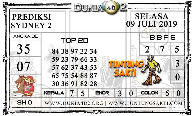 """Prediksi Togel """"SYDNEY 2"""" DUNIA4D2 09 JULI 2019"""