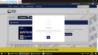 Warning DJP Online Ubah Profil