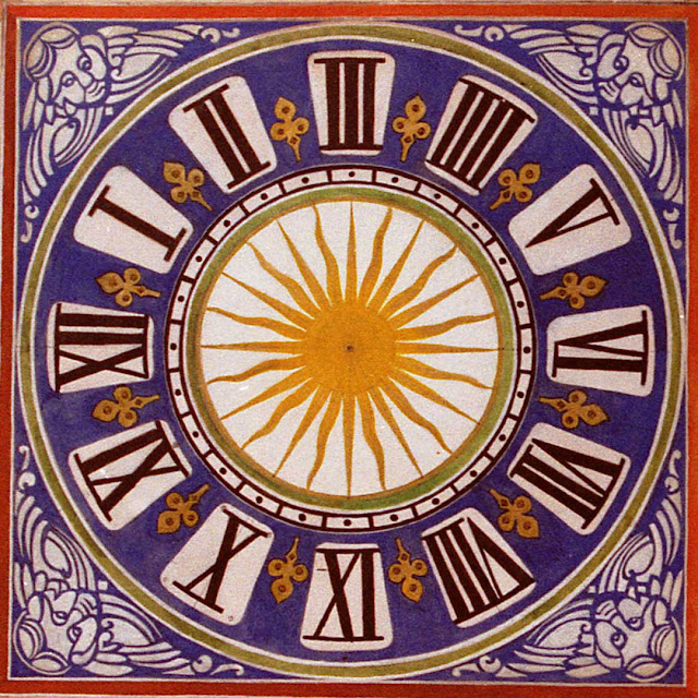 Design from 1912 for the clock face on the Porte Picois, Loches, Indre et Loire, France.