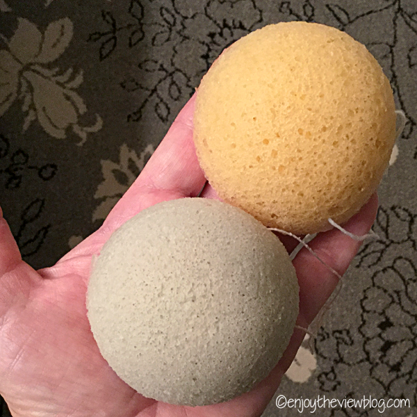 two konjac sponges