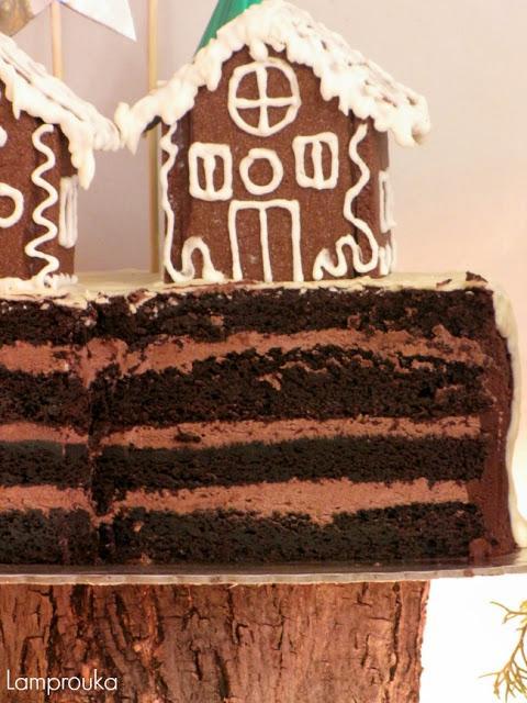 Τούρτα σοκολάτα Χριστουγέννων.