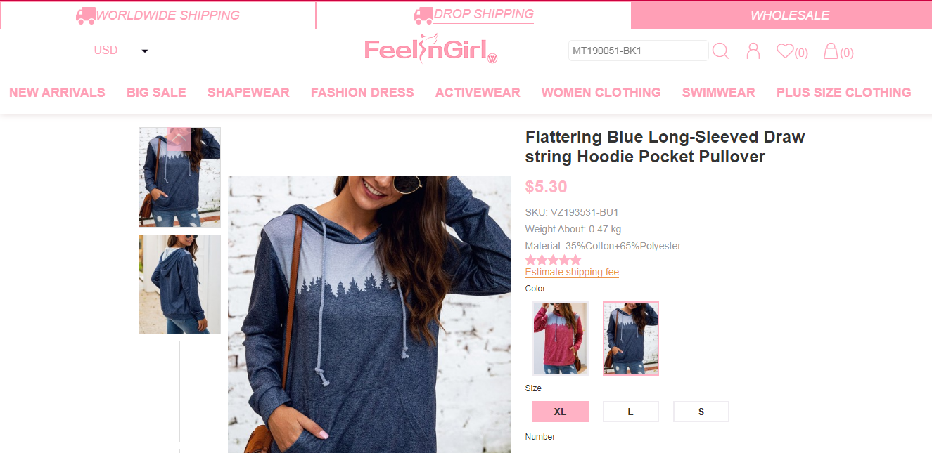 online shopping, feelingirl, feelingirldress, wholesale bandage dress, hoodies and sweatshirt for women, choose feelingirldress
