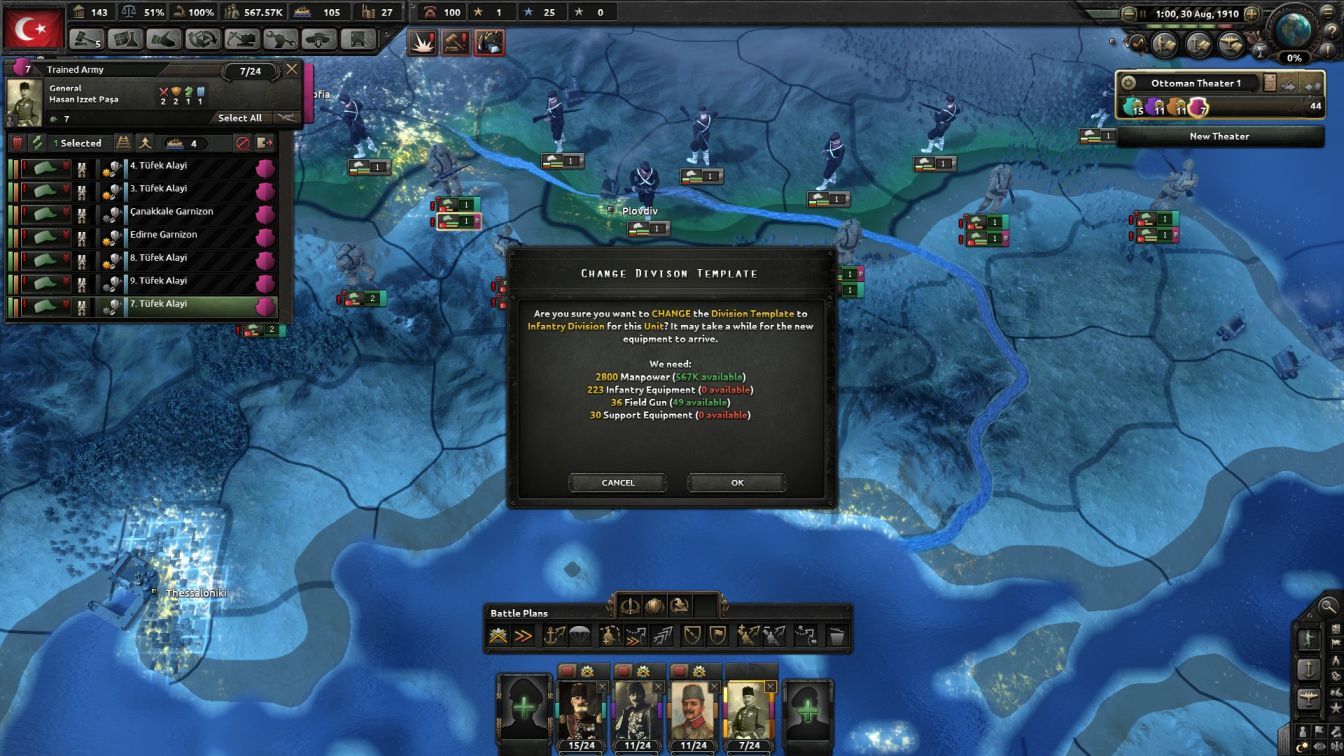 Ottoman - HOI4 - Upgrading the Army (I)