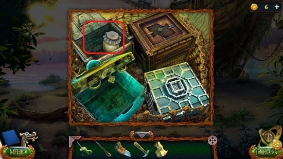 открытый ящик с банкой в игре затерянные земли 4 скиталец