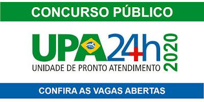 Concurso UPA 2020 - Vagas com salários de até R$ 8 mil