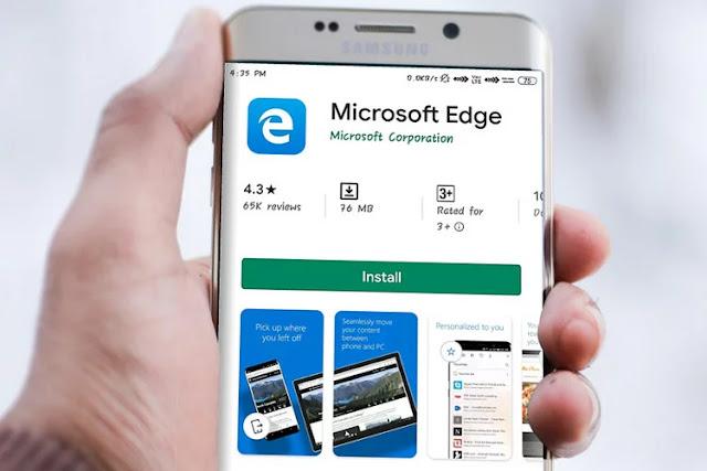 متصفح Microsoft Edge يوفر الأن ميزة الوضع المظلم على Android 10
