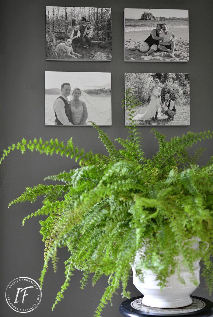 Cheap Photo Wall Idea