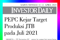 PEPC Pursues JTB Production Target in July 2021