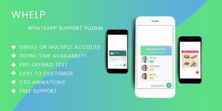 Codester Whelp - JQuery WhatsApp Help Chat Plugin Free Download