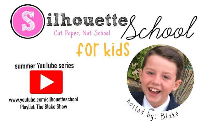 silhouette 101, silhouette america blog, youtube series, kids crafting, silhouette for kids