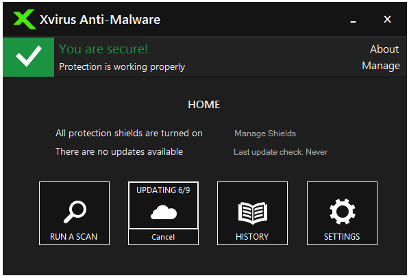 Screenshot Xvirus Anti-Malware 7.0.5 Full Version