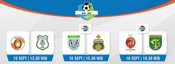 Jadwal Siaran Langsung Liga 1 Pekan 22 Minggu 16 September 2018