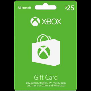 thẻ gift cards xbox chính hãng us 25$ <br><br> 600.000 VNĐ