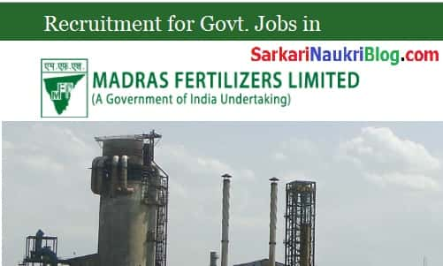 Madras Fertilizers Vacancy Recruitment