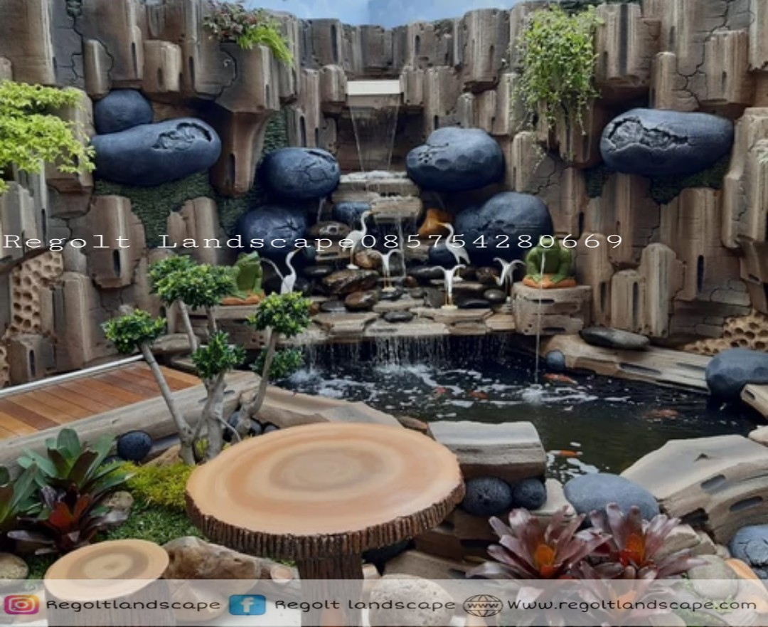 Jasa Pembuatan Dekorasi Kolam Relif Tebing - Batu Artifisial Di Jakarta