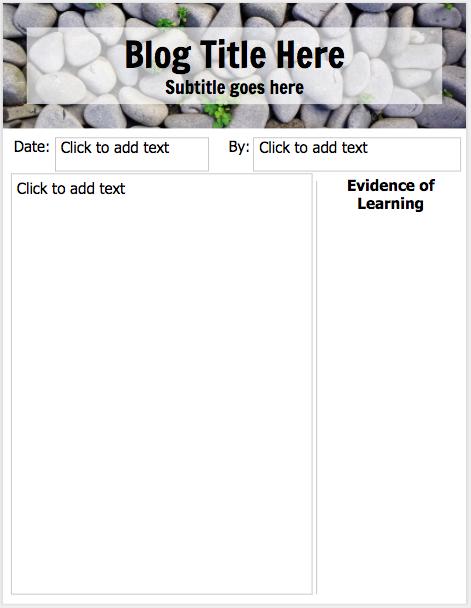 teachingtechnix student blogs using google slides