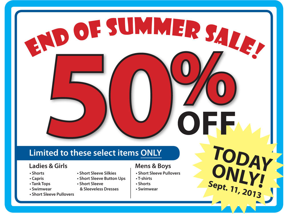 cf929f18af What s at my Ohio Thrift   End of Summer 50% Off Clothing Sale TODAY!