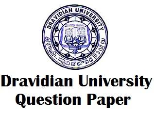 Dravidian University Question Paper PDF
