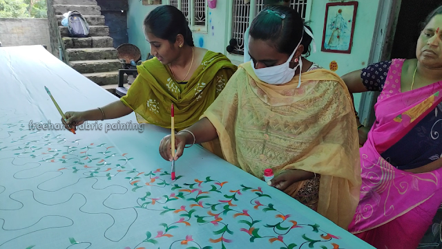 one day fabric paint training program on sarees pictures - 2