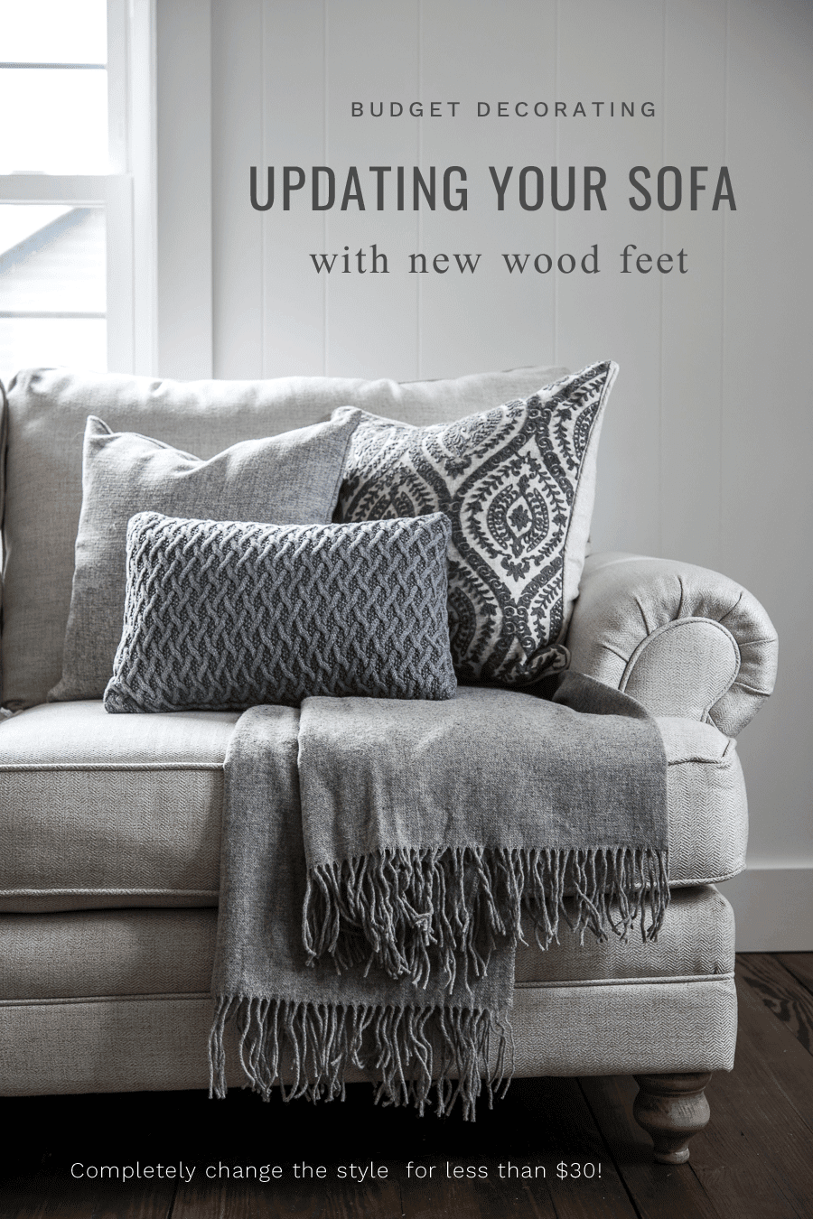 Update the style of your sofa with new feet