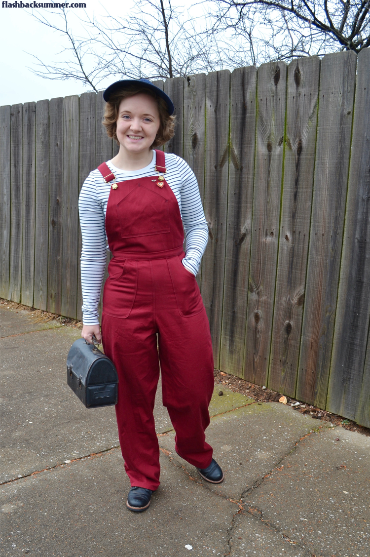 Flashback Summer: 1940s Red Overalls - Wearing History Homefront