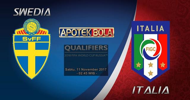 Swedia vs Italia 11 November 2017