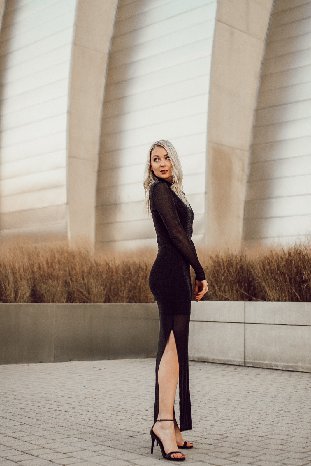 black formal dress for the holidays