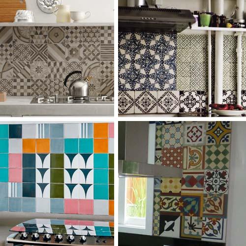 Patchwork in cucina arredamento facile - Piastrelle a mosaico per cucina ...