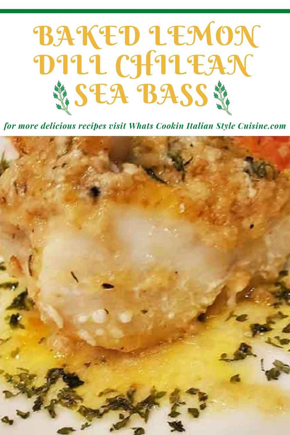 how to make Chilean Sea Bass pin for later