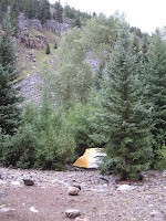 Animas River camp
