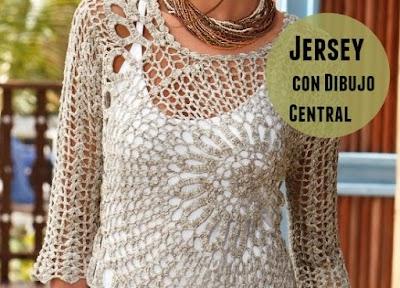 Jersey con Dibujo Central Patron