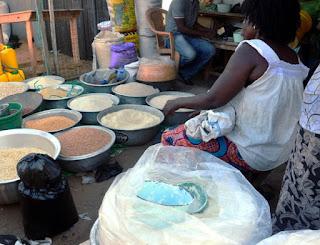Ghana market place.